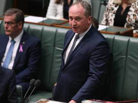 Barnaby Joyce at Parliament House in Canberra. Picture: Kym Smith
