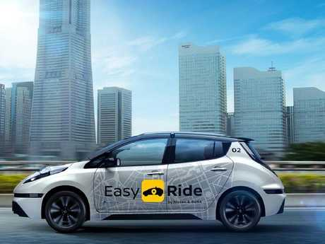 "Nissan will trial Easy Ride ""robo-taxis"" in Japan next month."
