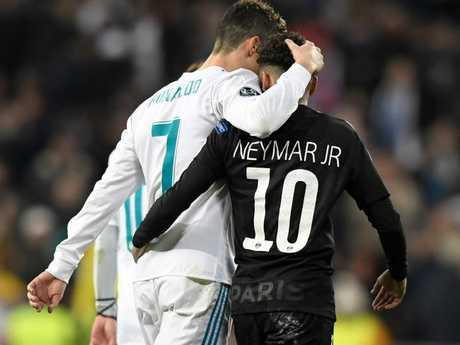 Cristiano Ronaldo and Neymar.