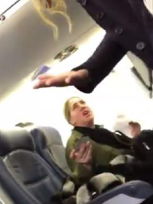 The woman threatened to get the flight attendant sacked. Picture: Facebook
