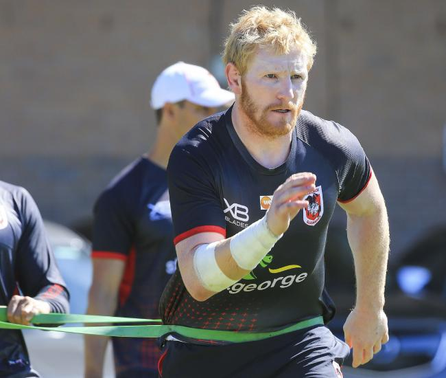 James Graham will play his first match for the Dragons. Picture: Dylan Robinson