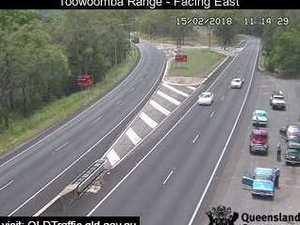 Truck spills fluids on Toowoomba Range