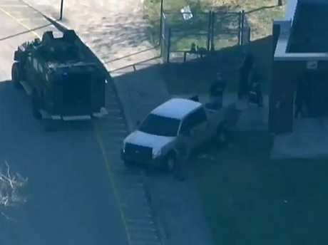 The Broward County Sheriff's Office in Florida is responding to reports of a shooting in a Florida high school. Picture: Seven News