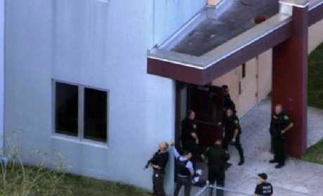 The Broward County Sheriff's Office in Florida is responding to reports of a shooting at Stoneman Douglas High School in Parkland. Picture: WSVN