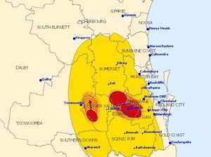 SEQ storms bring down powerlines