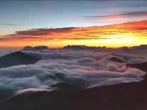 Spectacular sunrise over Hawaii