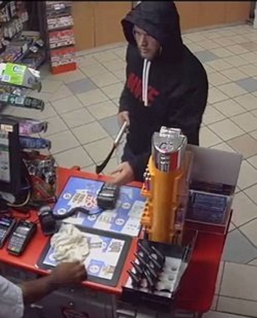 INVESTIGATION: Police are looking for this man in relation to an armed robbery.