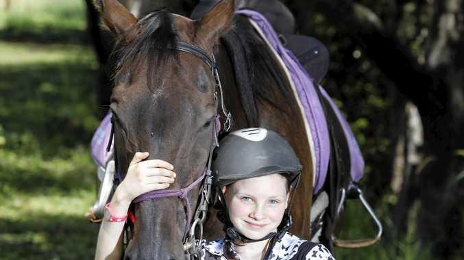 Imogen Larter with horse Nelson.