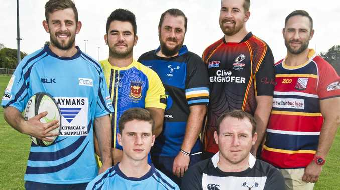 Aubigny Tens tournament players (back from left) Jackson Green, Ellis Jensen, Matthew Ford, Blake Parton and Marcus Filipetto, (middle from left) Connor Weston and Andrew Roberts and (front) Scott Jefferies.