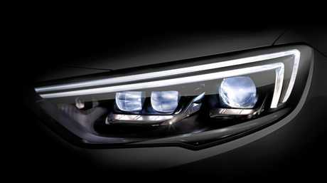 LED headlights in the new Holden Commodore.