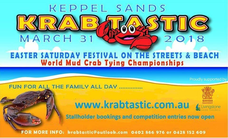 Keppel Sands Krabtastic Festival flyer