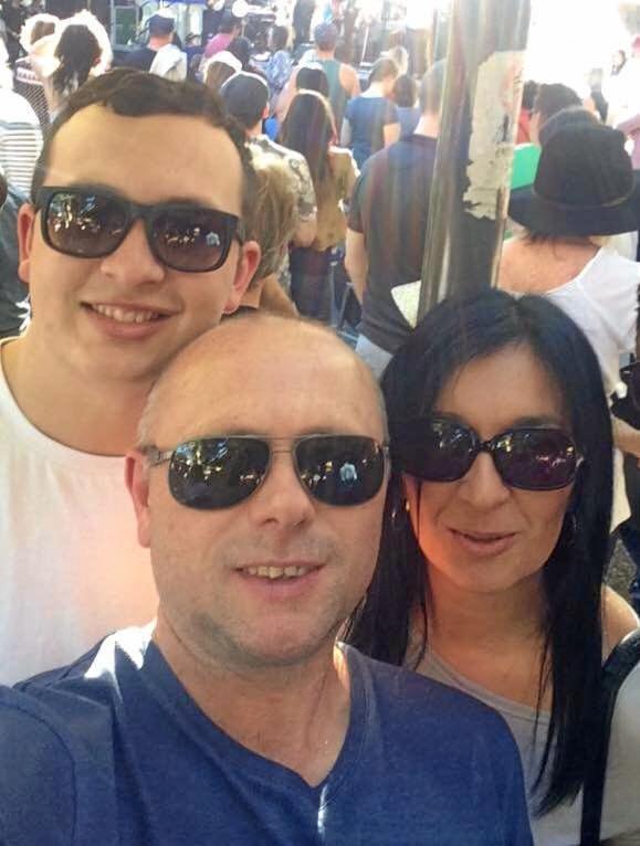 Dylan, Scott and Rachel Grady.