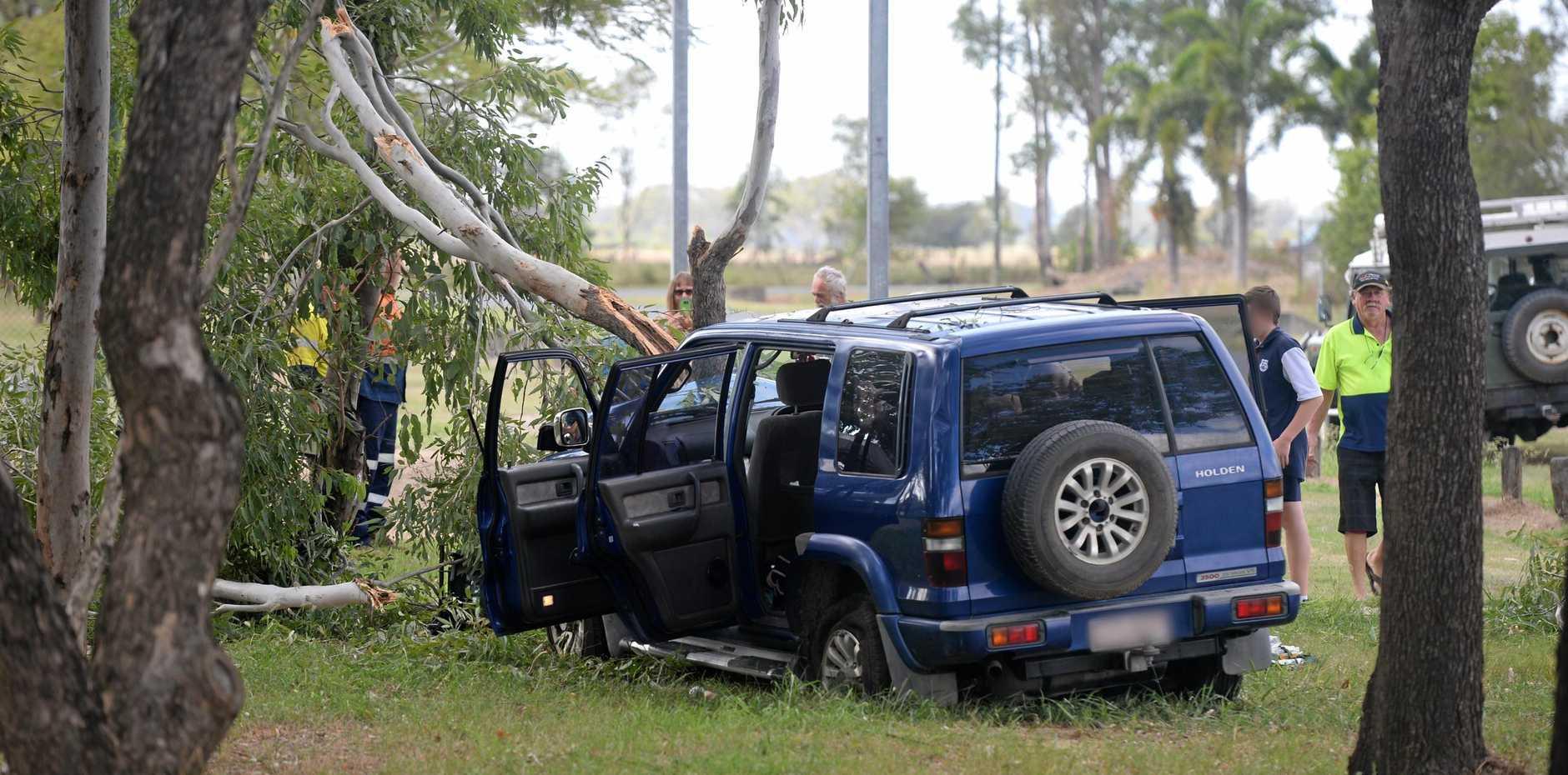 car crash Wood and Denison Streets