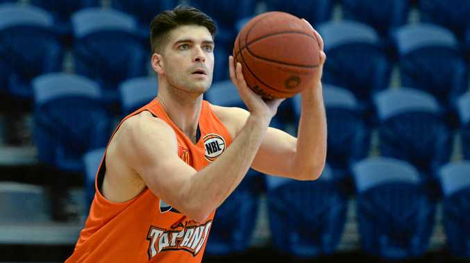 Cairns Taipans player Stephen Weigh during a practice session at CQ University ahead of an exhibition game against the Brisbane Bullets.