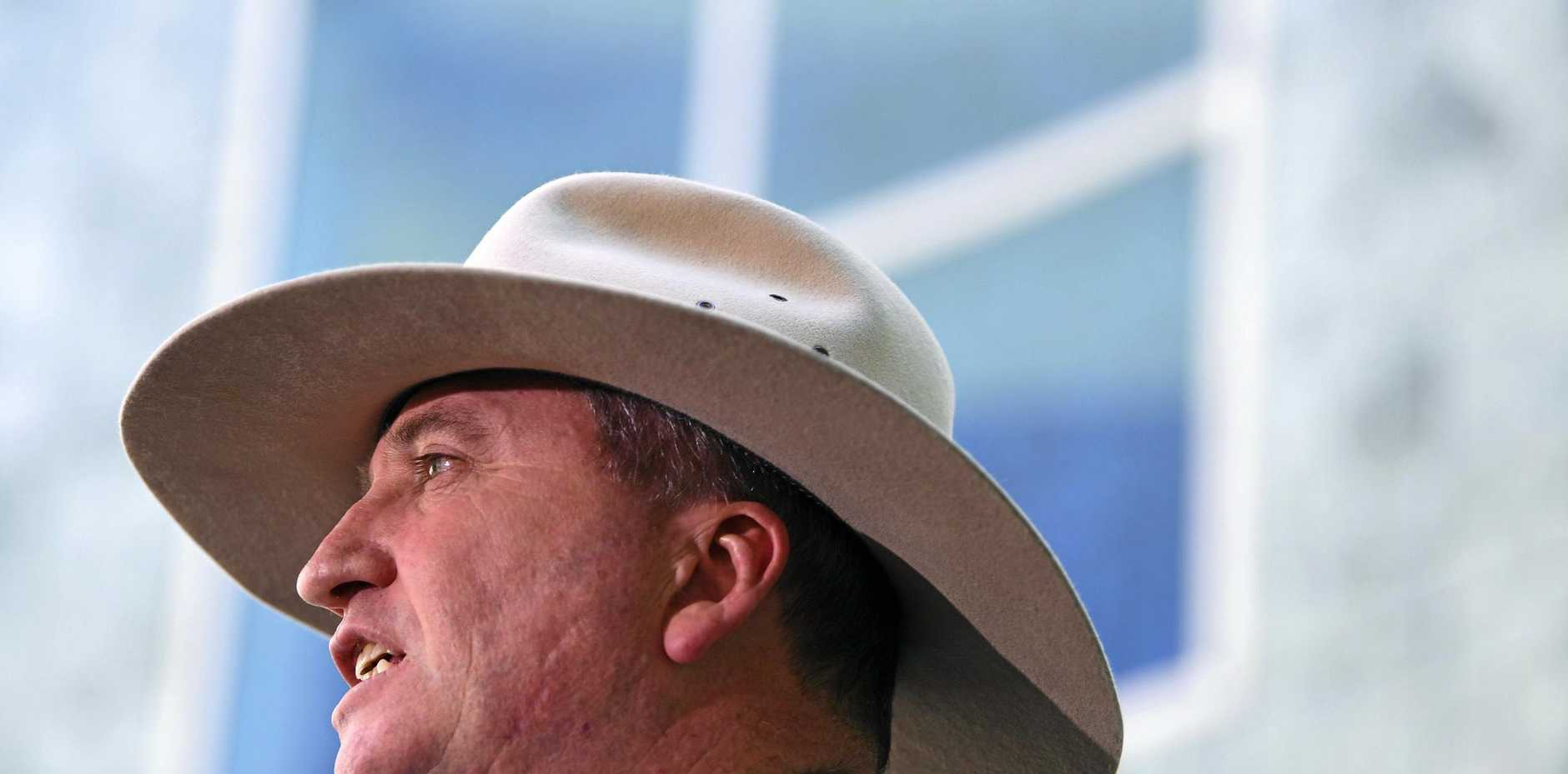 RATHER than showing contrition, Barnaby Joyce went on the attack yesterday against the man he let down.