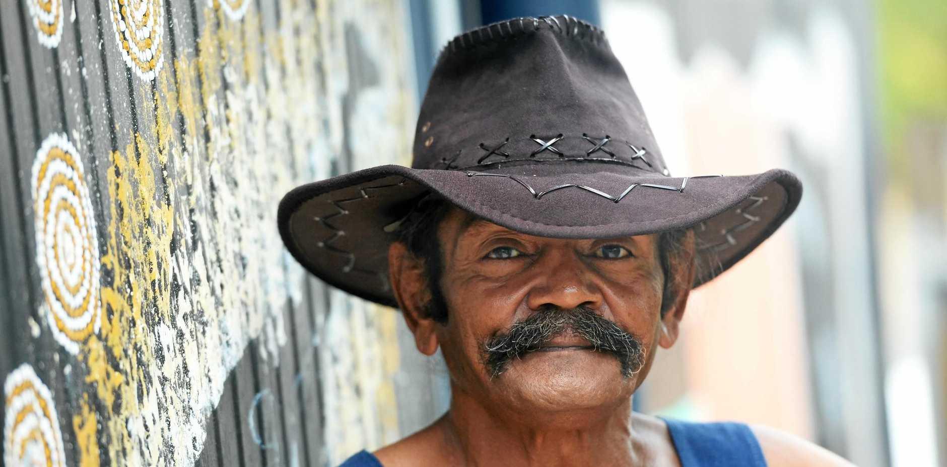 One of Rockhampton's homeless, Steven Freeman.