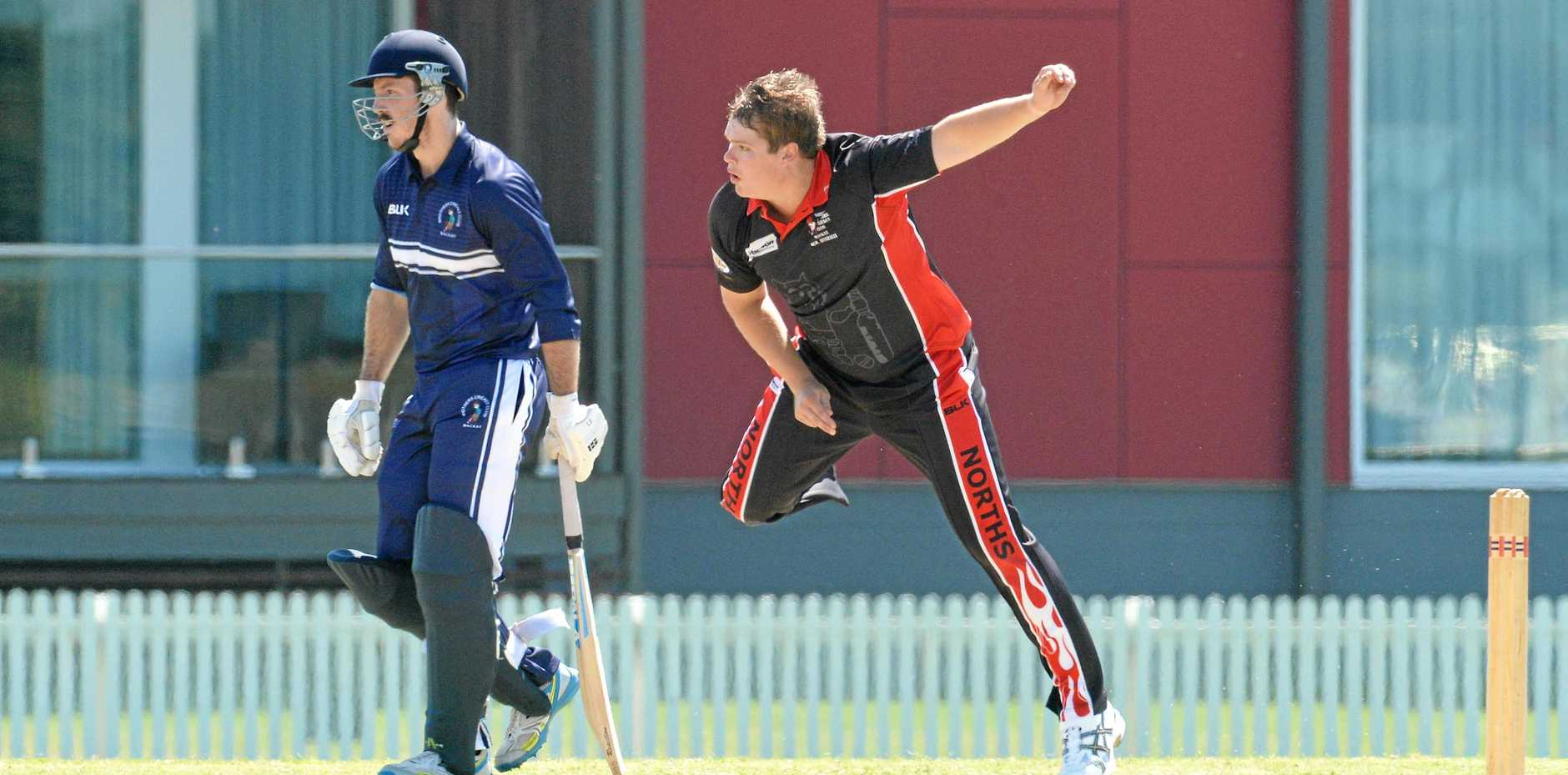 CONFIDENT: Norths Jason Butterworth (bowling) expects his side to bounce back in the DBCT Poole Cup today.