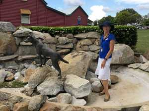 One charged over dingo statue theft