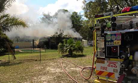 A shed caught on fire in Oxford St, Bidwill on Friday afternoon, February 16.
