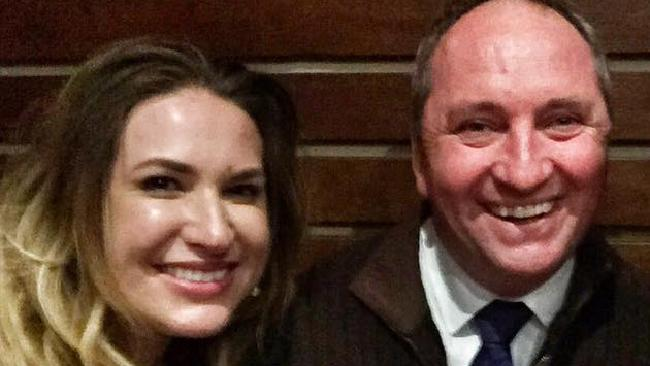 Vikki Campion and Barnaby Joyce. Picture: Facebook