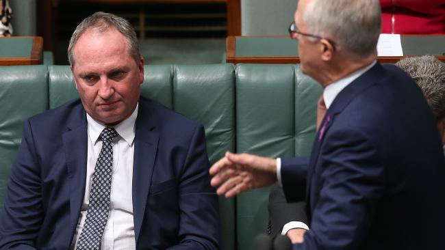 Mr Turnbull can't sack Mr Joyce as Deputy PM. The Nationals have to do that. Pic: Kym Smith