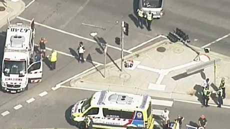 Eight people, including seven children, have been hurt in a hit-run. Picture: Nine News