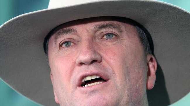 Deputy Prime Minister Barnaby Joyce during a press conference at Parliament House in Canberra. Picture Gary Ramage