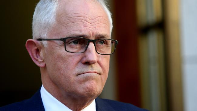 PM Malcolm Turnbull looked grim as he dressed down Barnaby Joyce on Thursday. Picture: Kym Smith