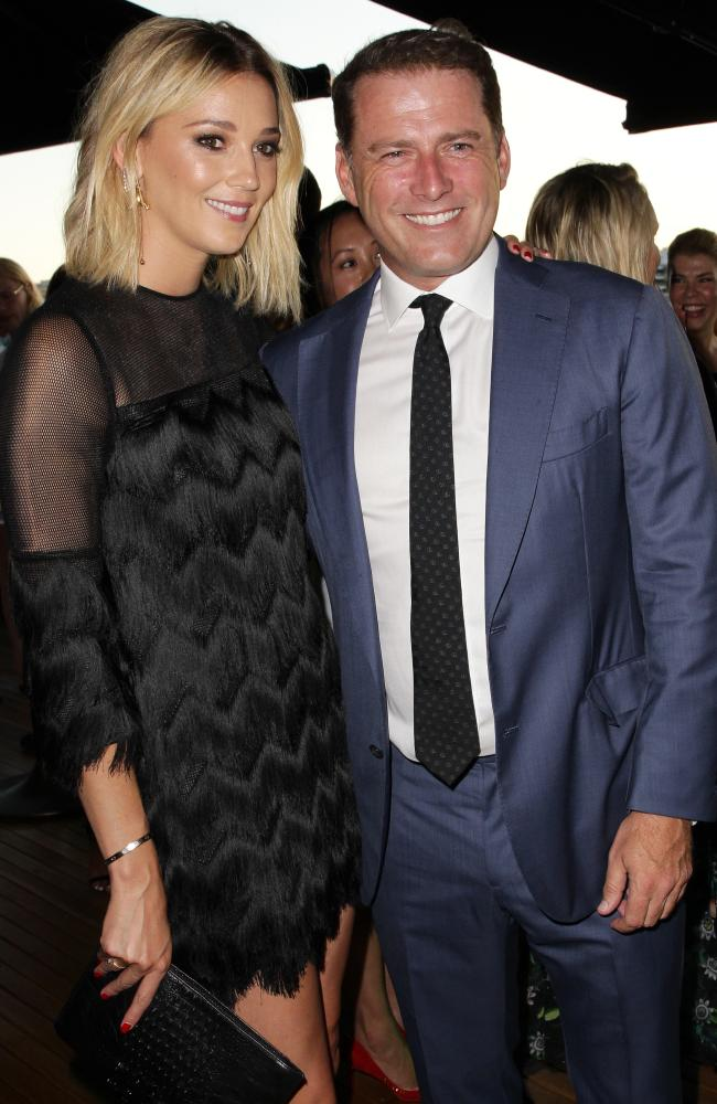 Jasmine Yarbrough and Karl Stefanovic have finally spoken about their engagement. Picture: Christian Gilles