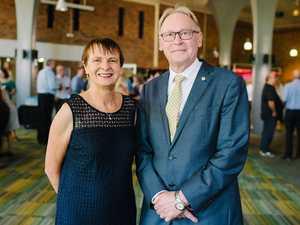 Senior Deputy Vice-Chancellor Professor Janet Verbyla and Chancellor John Dornbusch