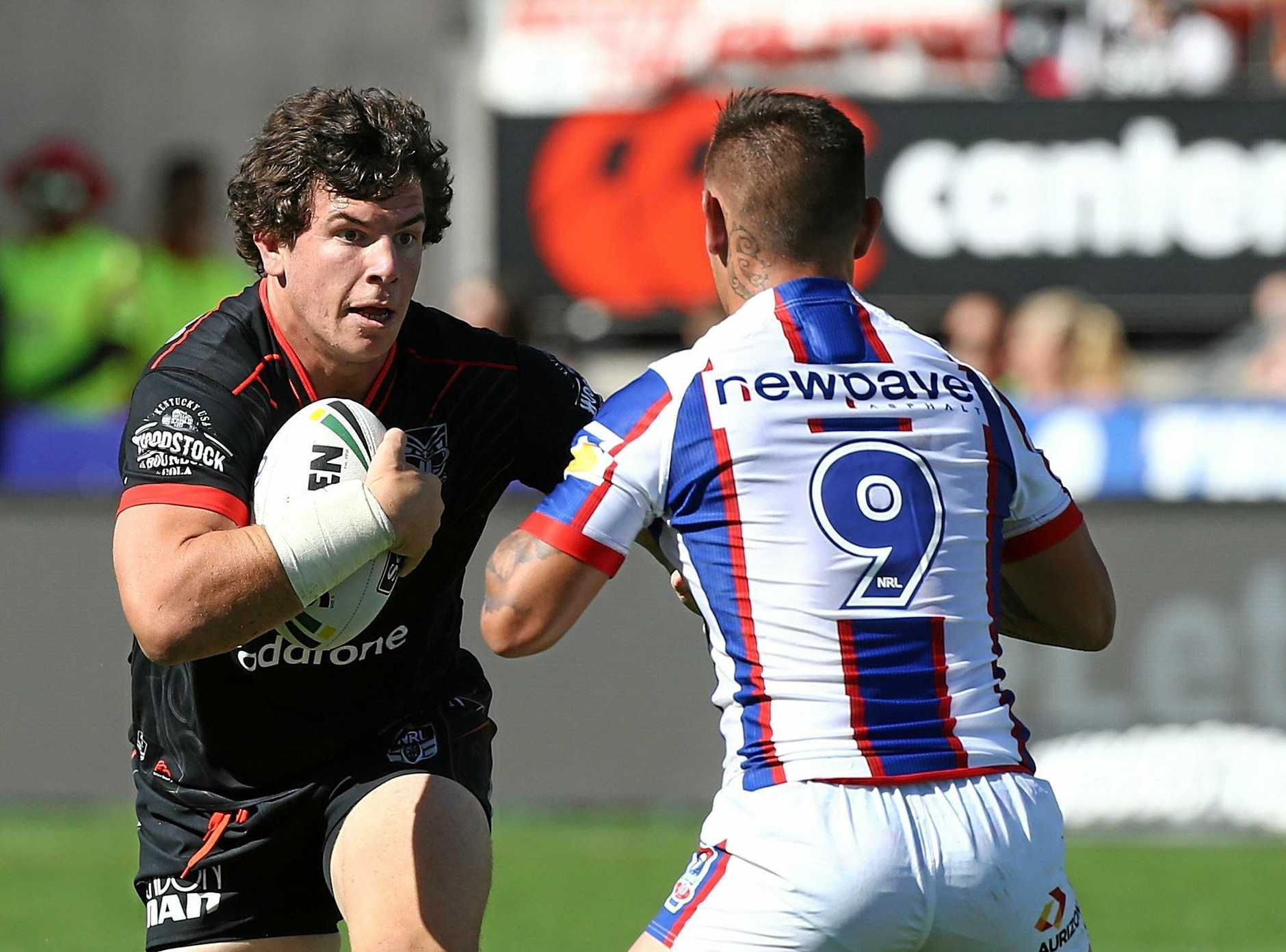 ON THE CHARGE: Charlie Gubb in action for the Warriors last year.