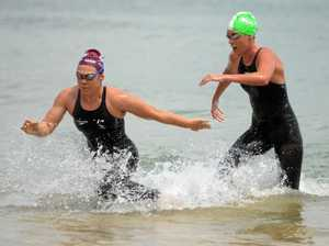 Sloman and Gubecka claim close 5km ocean swim wins