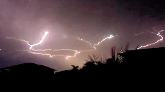 SPECTACULAR FOOTAGE: Rockhampton was lit up last night by some amazing lightning.