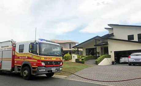 UNDER CONTROL: Fire crews rushed to tackle a fire at Pacific Heights this afternoon.