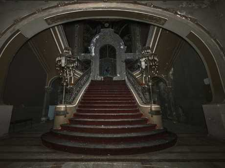 This ornate staircase hasn't been used for years. Picture: Jakub Kyncl