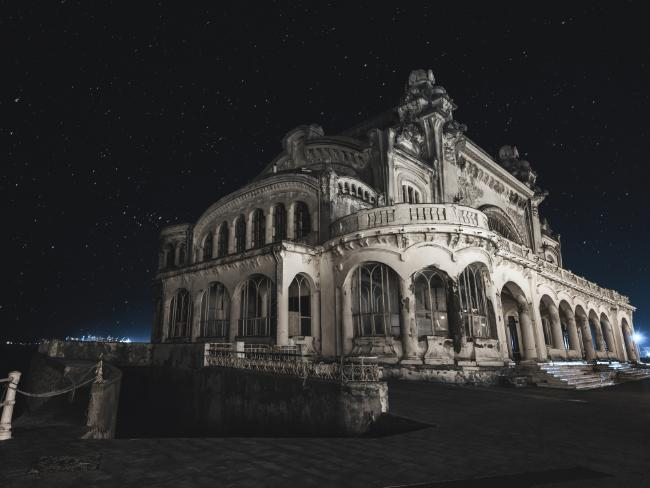 The stunning building late at night. Picture: Jakub Kyncl