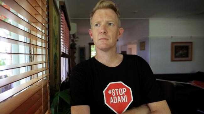 Ben Pennings has had 100 death threats and had to block 1000 Facebook trolls over the Adani impasse. Picture: Jamie Hanson