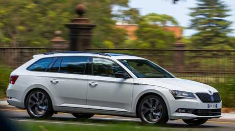 On a roll: Superb wagon shares its engine with the VW Golf GTI, slightly detuned.
