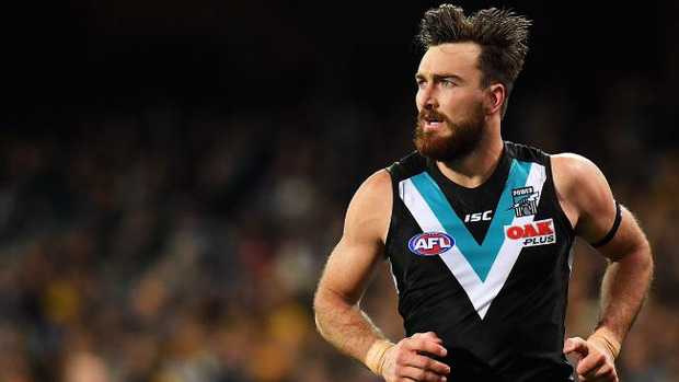 Charlie Dixon said Ken Hinkley was a big reason behind his decision to leave Gold Coast for Port Adelaide in 2015. Picture: Daniel Kalisz (Getty).