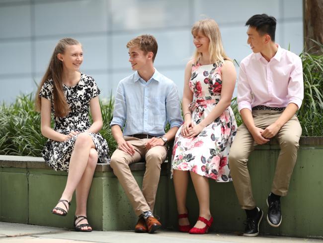 High achievers Rachel Hauenschild, Stuart Moss, Lucinda Colbert and Cheng Zhang. Picture: Peter Wallis
