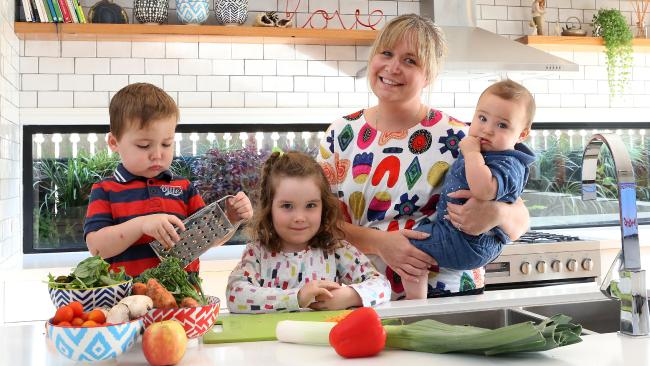 Katie Lavercombe – with Xavier, 2, Bella, 4, and eight-month-old Archie – says the cost of having a child is deterring wannabe parents from taking the plunge.