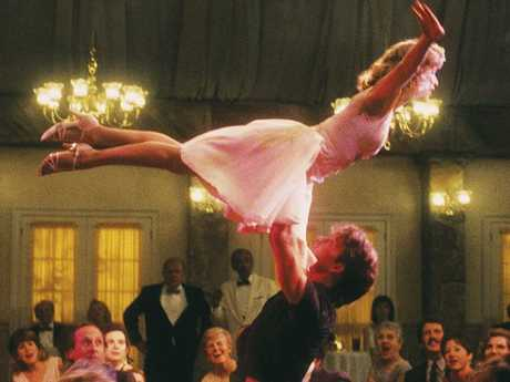 That lift, featuring Patrick Swayze and Jennifer Grey, back when she had a normal nose.