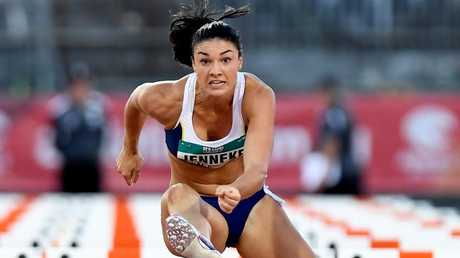 Michelle Jenneke in the 100m hurdles at the Australian Athletics Championships.