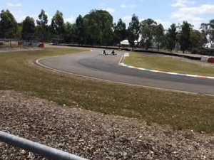 Action in cadet 12 at Warwick Karting Club