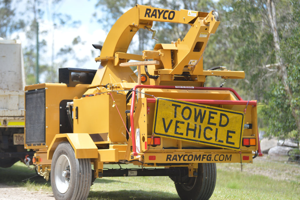 A man died in a horror incident with a wood chipper at a Goomboorian property on Sunday night.