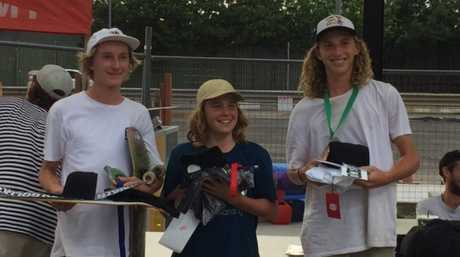 Gabe Harrison finished third in the under-16s at the Australian Skateboarding League Queensland event and qualified for the national finals in Melbourne.