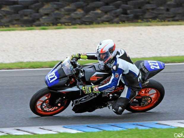 Hunter Penhallurick at a test day at Phillip Island last month.