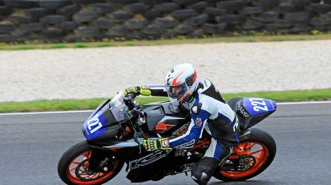 Hunter Penhallurick at a test day at Phillip Island last month.