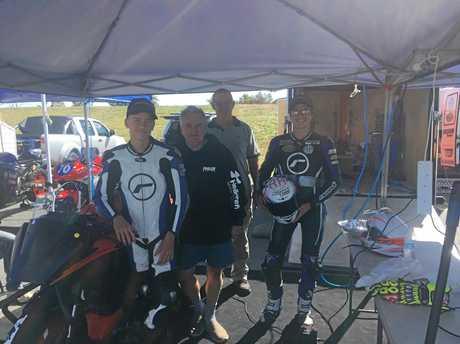 L-R: Hunter Penhallurick, Rob Phillis, David Gow and Ben Bramich.