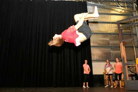 Footloose rehearsals at the Proserpine State High School this week.